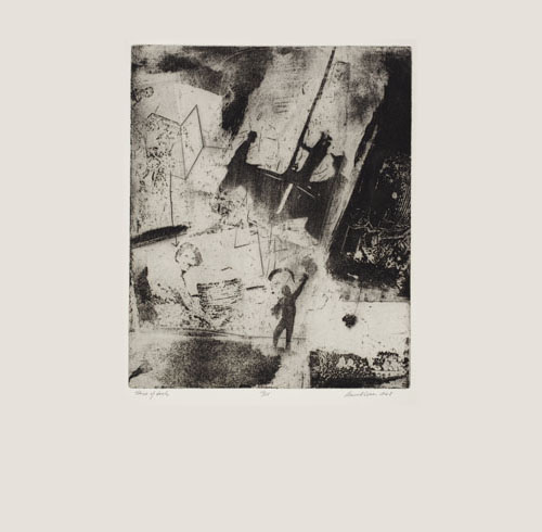 David Conn etching aquatint drawing